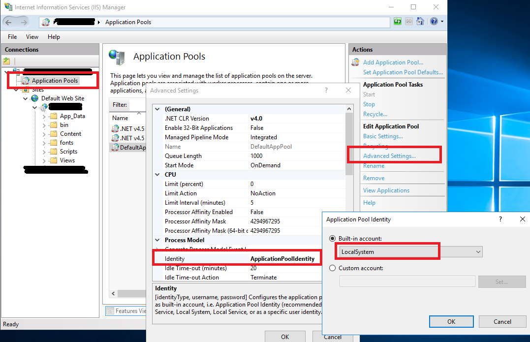 Deploy ASP  NET MVC application using LocalDB to local IIS