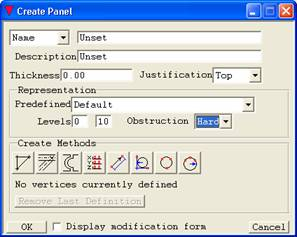 create panel pdms